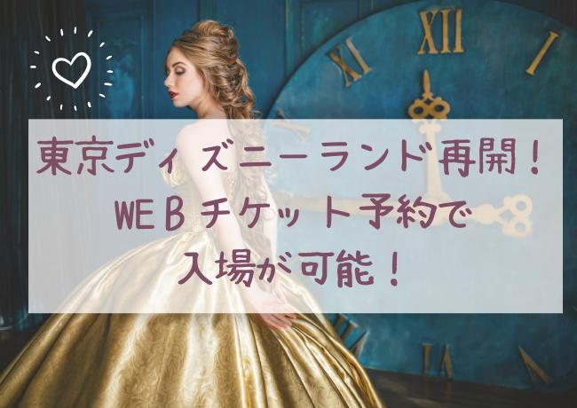再開の東京ディズニーランド・東京ディズニーシーのweb予約方法や注意点を紹介